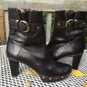 Stuart Weitzman🍂Platform Brown Leather Boot EUC